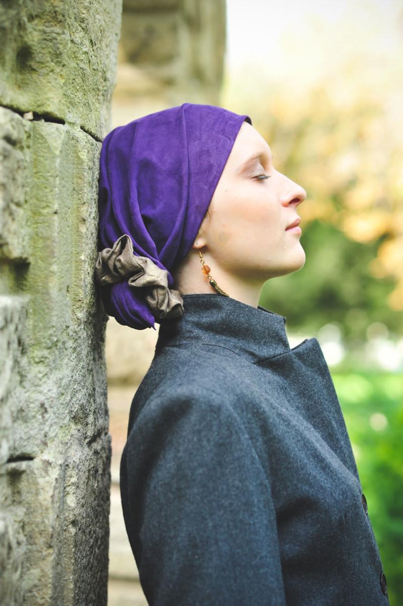 Scarflett - Foulard en cuir pour couvrir l'alopécie