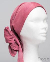 Foulard en cuir doux - alopécie cancer - couleur rose