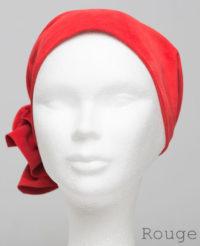 Foulard en cuir doux - alopécie cancer - couleur rouge