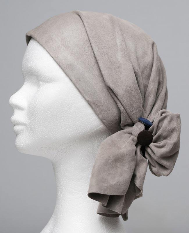 Scarflett® Cuir chevelure - Foulard cuir doux - Alopécie cancer
